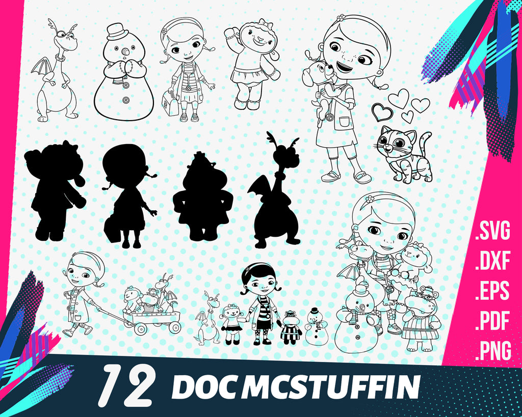 Doc mcstuffin svg, doc mcstuffins svg, png, eps, dxf, cut file, cricut file, silhouette cameo file, cuttable