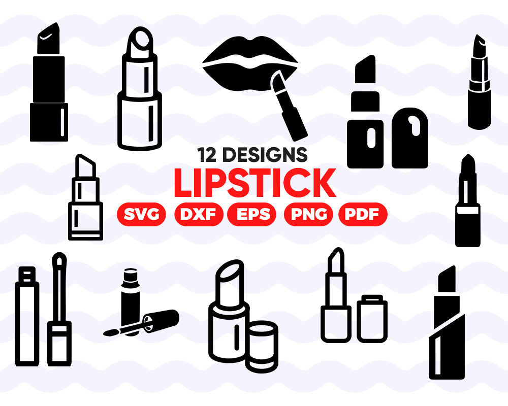 Lipstick svg, lipstick svg | lipstick clipart | lipstick cut file for commercial use | silhouette, clipart, cuttable design, SVG, PNG, DXF & eps Designs
