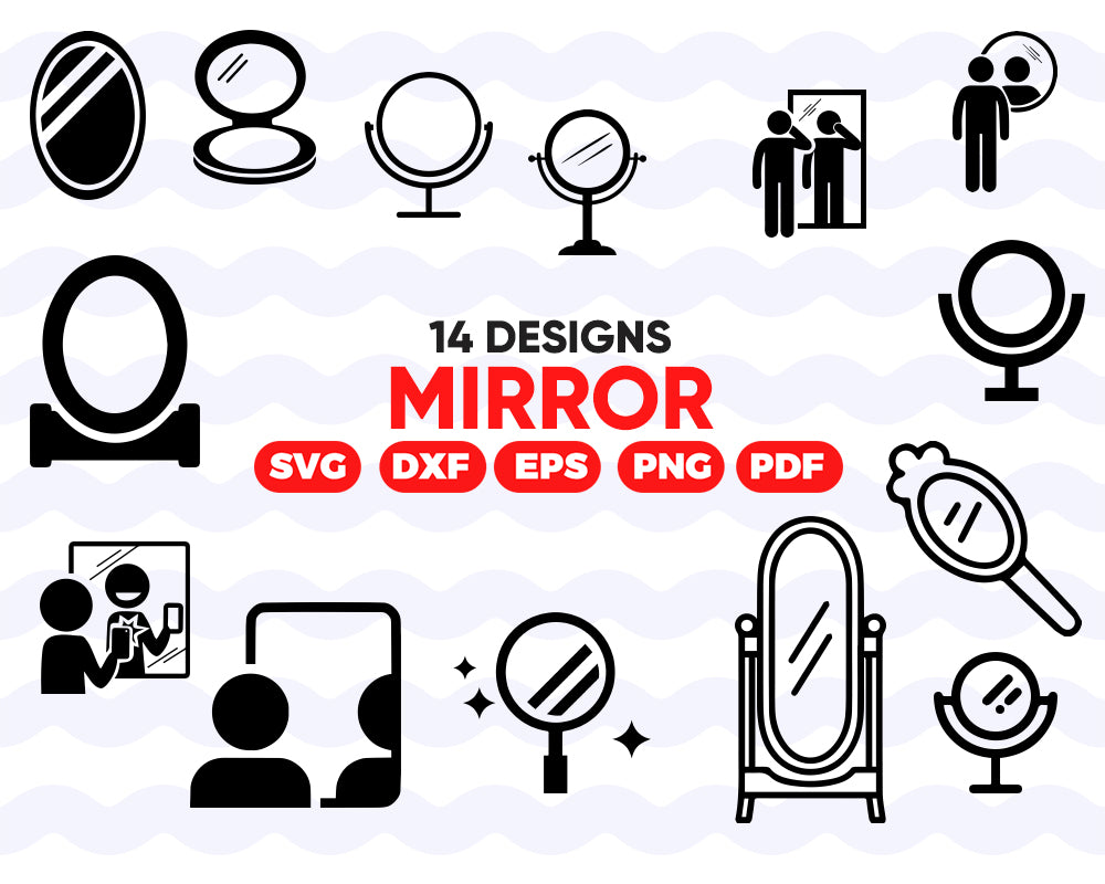 MIRROR SVG, Vintage mirror svg, Makeup mirror svg, Hand Held Mirror svg, Mirror Clipart, Mirror Silhouette, Mirror Vector, Mirror bundle, Decoration, Vinyl files, Instant Download