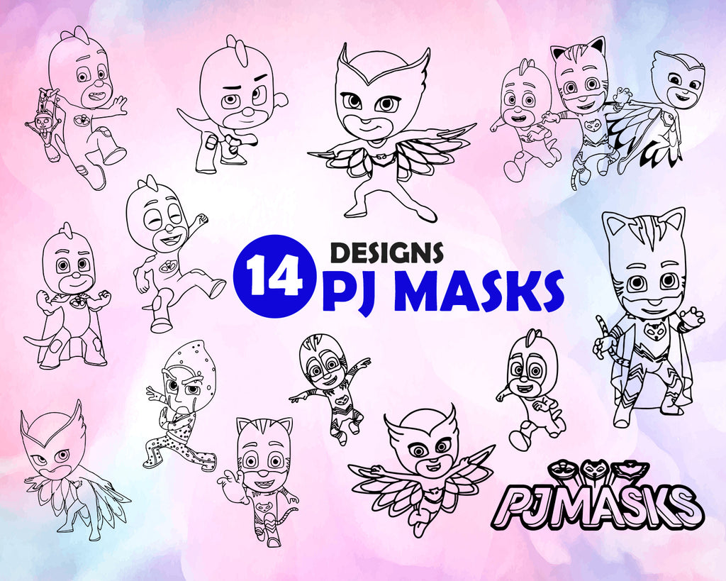 Pj Masks Svg Pjmask Svg Pj Masks Pj Mask Cutting File Pj Mask Svg Clipartic