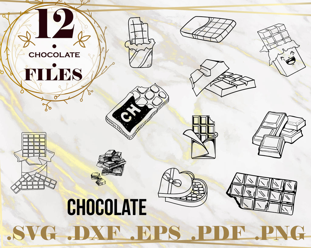 CHOCOLATE SVG, Chocolate Clipart, Chocolate Files for Cricut, Chocolate Cut Files For Silhouette, Chocolate Dxf, Chocolate Png, Eps, Vector Digital Design