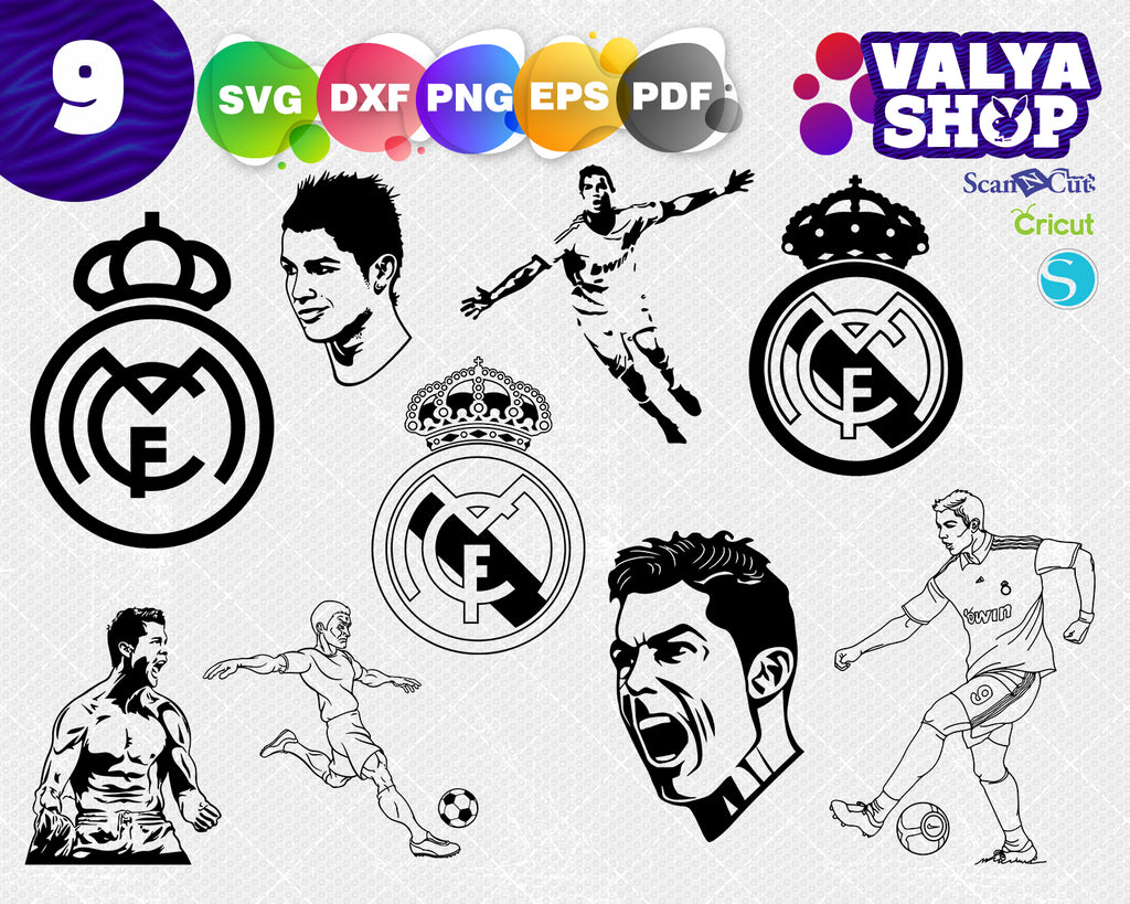 Real madrid svg, football, Real Madrid, home decor, man, football diy, soccer diy
