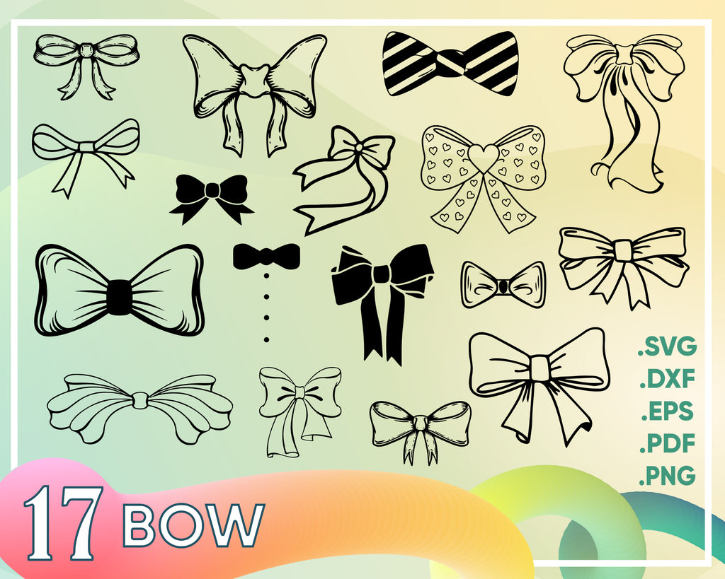 Bow svg, BOW TIE SVG, Bow Tie Clipart, Bow vector, bow design, Bow tie vector, bow Silhouette, bow svg, Bow tie svg file, Bow dxf