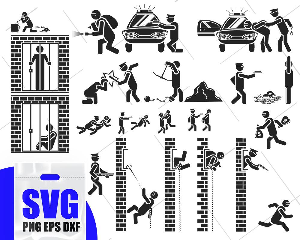 Police SVG, Police Wife SVG, Police Pride, Policeman SVG Bundle, Police Mom Svg, Police Family svg, Thin Blue Line cutting file, Badge svg