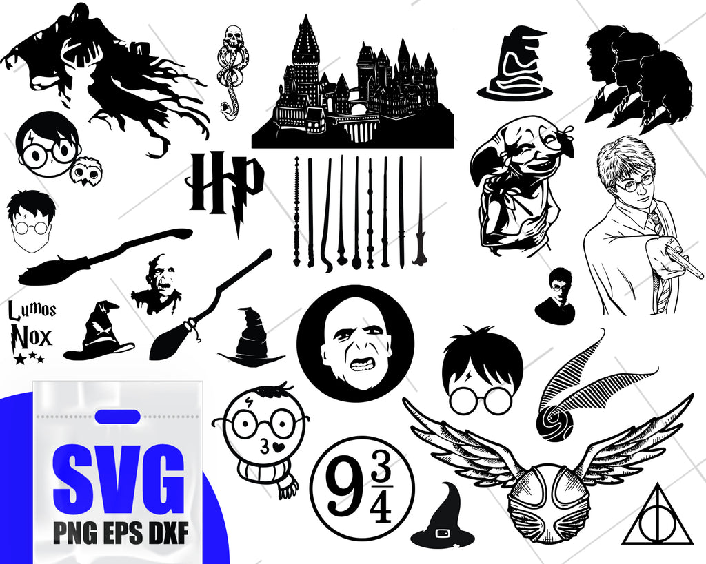 Harry Potter svg bundle, Harry potter svg, Harry potter clipart, Harry potter decal, Harry Potter decor
