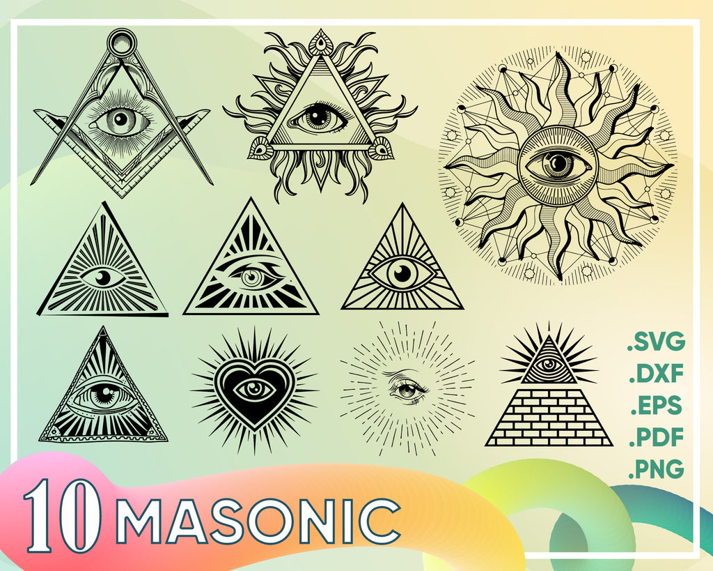 Masonic svg, Freemason svg, illuminati, freemason, masonic symbols, square, compass, sign, silhouette, decal, svg, png, eps, dpf, vector