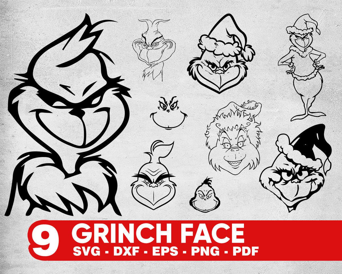 Download Grinch face svg, Grinch face svg, Grinch svg, The Grinch ...