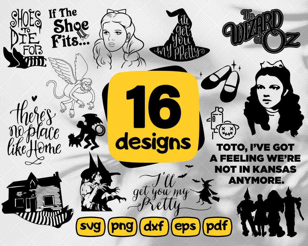 Wizard of Oz svg, Wizard of Oz, Wizard of Oz svg, Wizard fo Oz dxf, Wizard of Oz eps, Wizard of Oz png, Wizard of Oz pdf, Wizard of Oz bundle