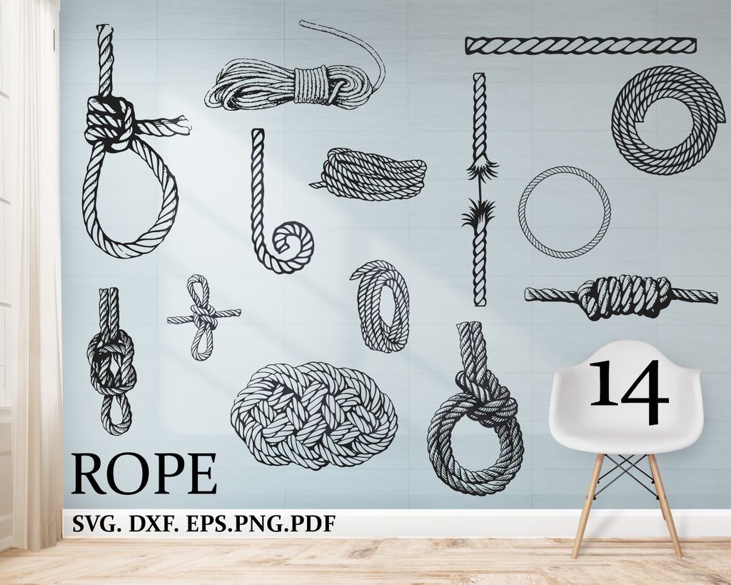 Rope svg,  download, silhouette, graphical image, clipart, rope bundle, rope clipart, rope cut files for silhouette, files for cricut, rope vector, svg, dxf, rope png, eps, rope design
