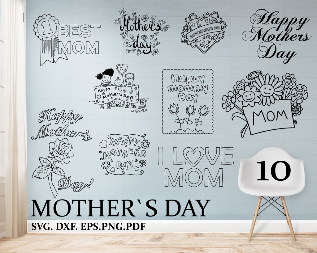 Mother's day svg, Mama svg, zip file containing svg, jpg, png, dxf, and eps, silhouette & cricut cut file