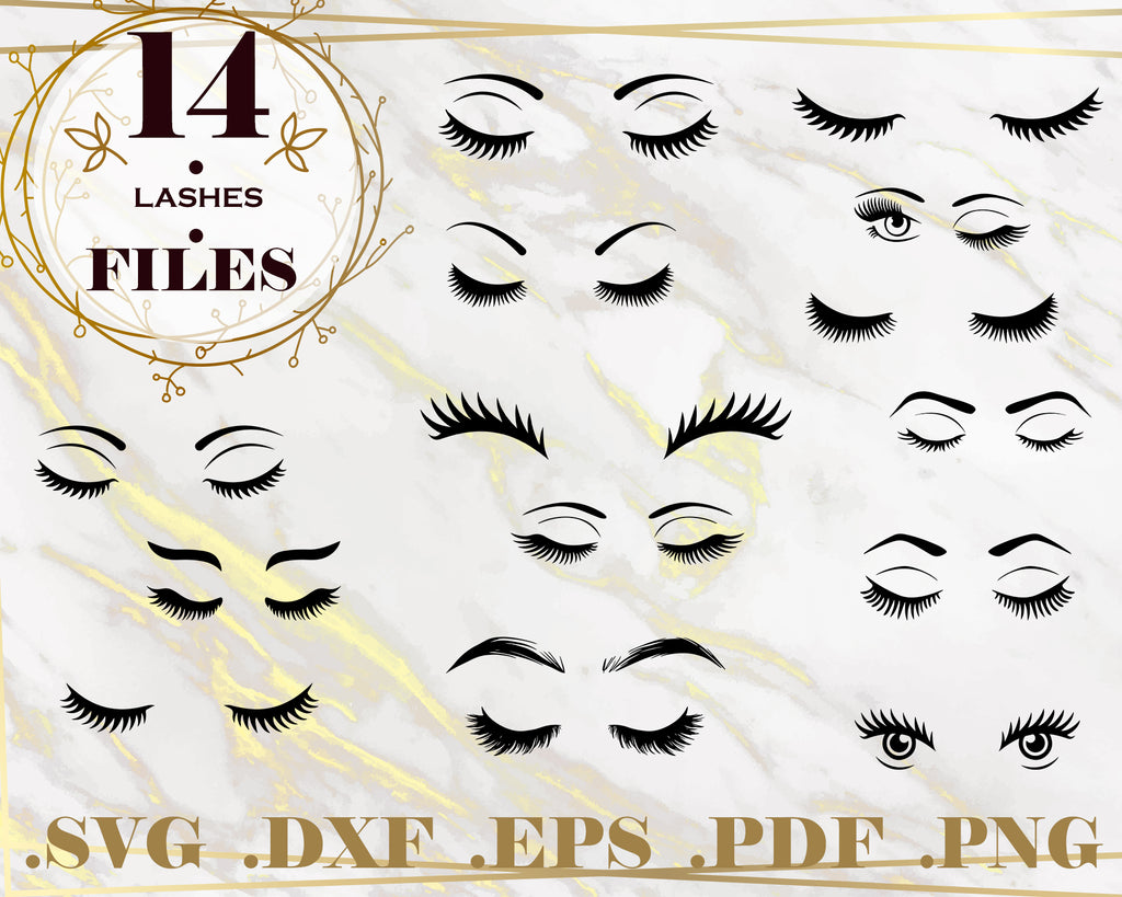 LASHES SVG, Eyelashes SVG Bundle, Eyelashes Svg, Lashes Svg, Eyebrows Svg, Makeup Svg, Woman Face Svg, Beauty Svg, Eyelashes Cut File Silhouette, Cricut, Instant Download