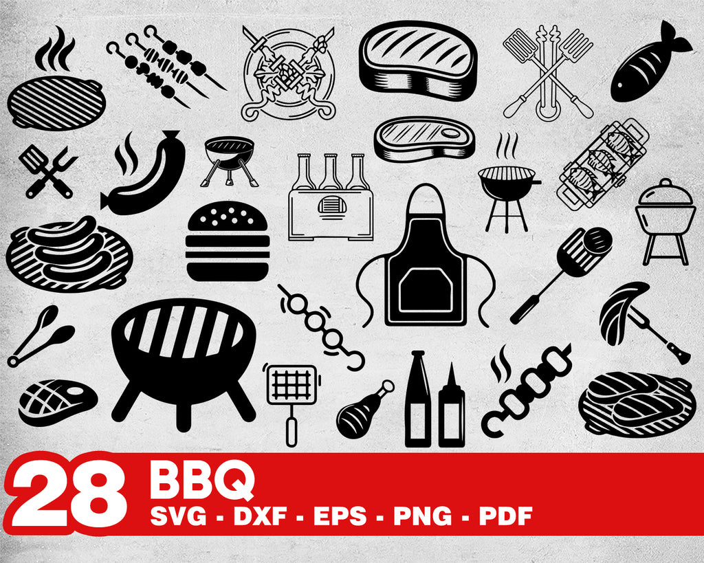 BBQ svg, BBQ SVG Bundle/ bbq svg/ bbq pit svg/ barbecue svg/ grill svg/ grilling svg/ clipart/ decal/ stencil/ silhouette/ vinyl/ cut file/ iron on