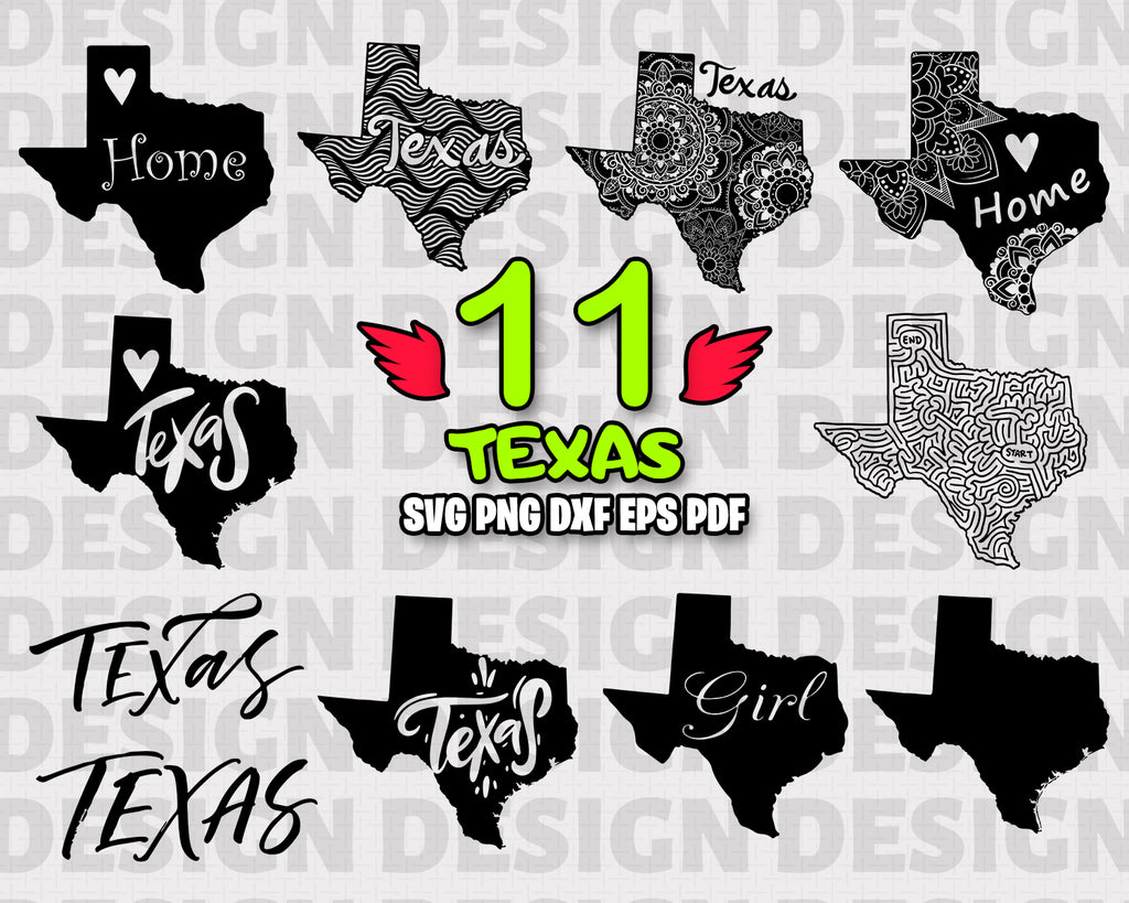 Texas SVG Bundle, Dallas svg bundle, Texas cut file, Texas clipart, Texas svg files for silhouette, TX files for cricut, svg, dxf, eps, png