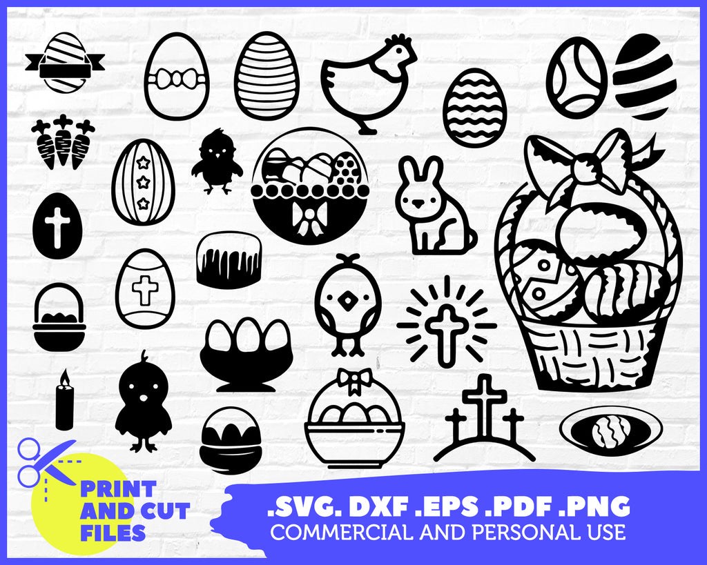 Easter Svg Clipart Silhouette Stencil File Cricut Cut File Cutti Clipartic