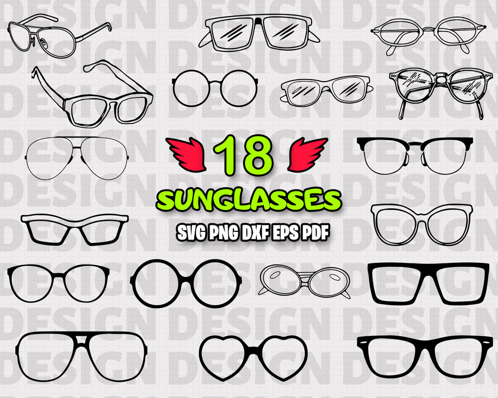Sunglasses SVG, Sunglasses Bundle, Sunglasses Vector, Party Decoration, Sunglasses Clipart, Cut Files For Silhouette, Files for Cricut, Vector, Sun Glasses Svg, Png, Vinyl Design, Instant Download