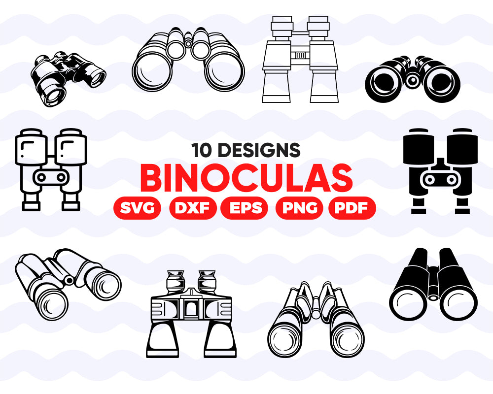 Binoculars SVG Bundle, Binoculars SVG, Binoculars Clipart, Cut Files For Silhouette, Files for Cricut, Binoculars Vector, Svg, clipart