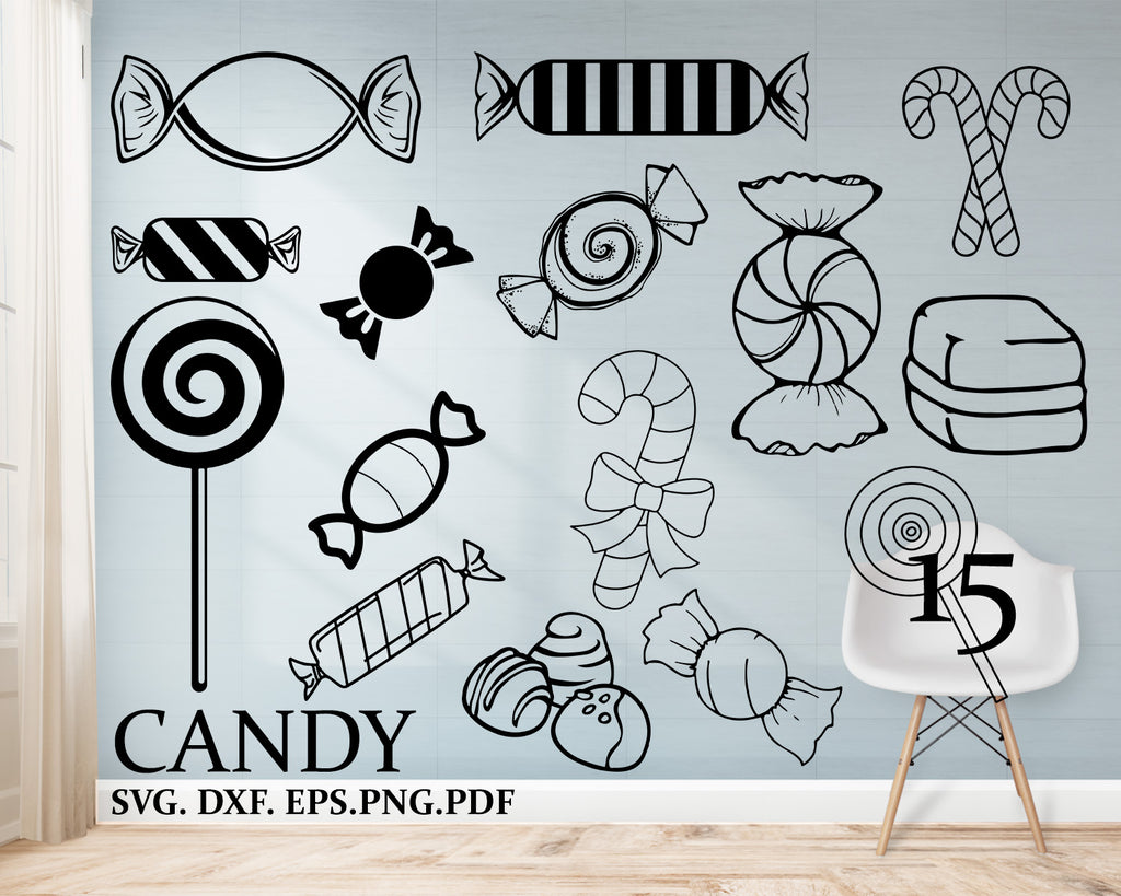 Candy svg, Candy Canes, Chistmas SVG, svg files for cricut, Christmas, svg designs, svg, Candy svg, Winter svg, silhouette