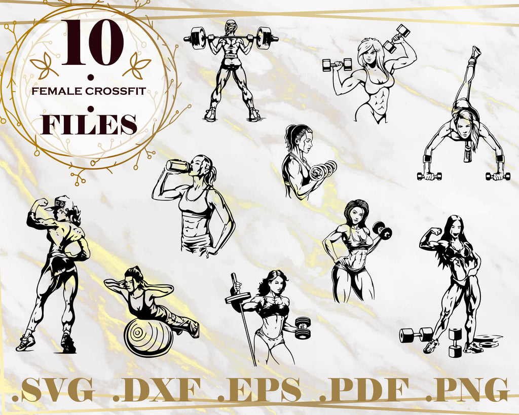Female Crossfit Svg Crossfit Silhouettes Svg Cutting Files Dyi C Clipartic