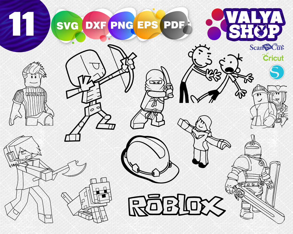 Roblox svg bundle pack - Roblox cut file - Roblox svg alphabet - Roblox charcter pack svg - Roblox tool set svg
