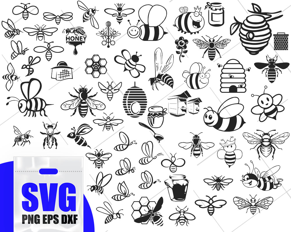 BEE SVG, bee svg, bee clipart, insect svg, bee insect, bee file, clipart, stencil, vinyl cut files, iron on, cricut, silhouette