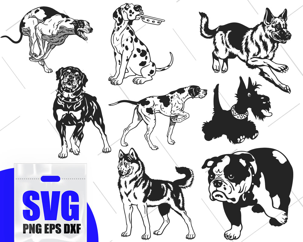 Dog Silhouette SVG, Dog Decals Template, Dog svg, Dogs Vector, Dog Stencil, Pet Silhouette, Pets, Pet clipart, Animals silhouette, Pet Svg