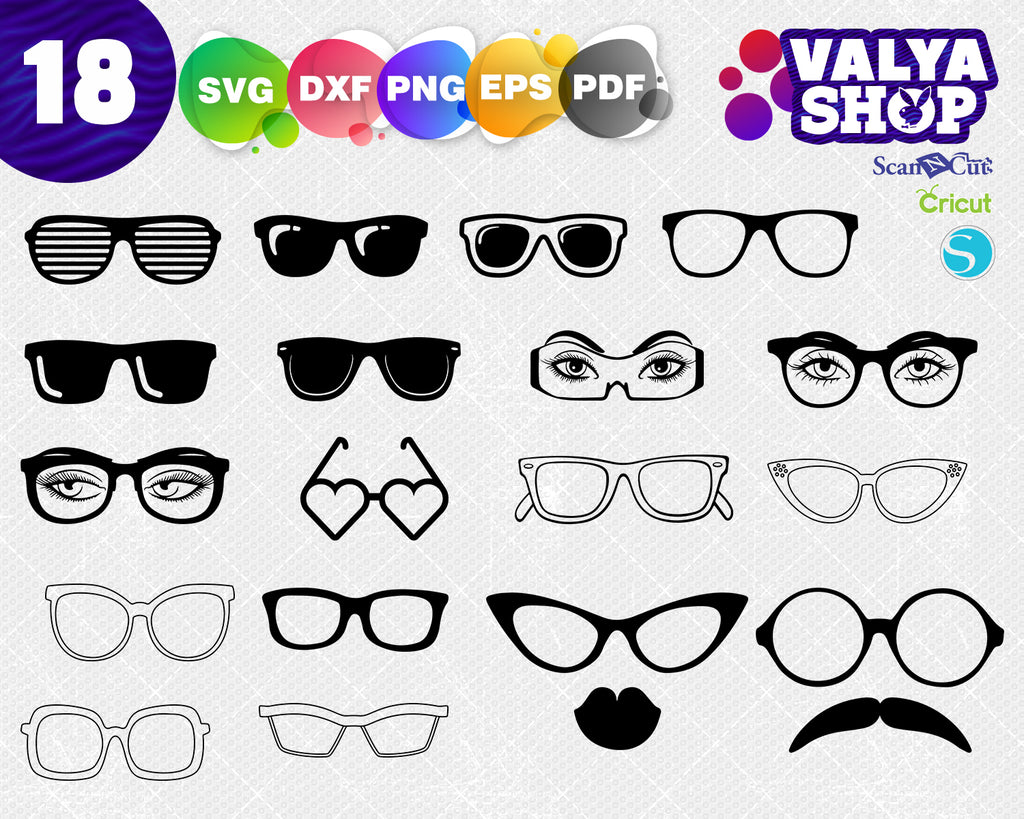 Sunglasses svg, Sunglasses eps, Sunglasses Clipart, Sunglasses Silhouette Cut File Svg Eps Pdf Png, Sunglasses Download