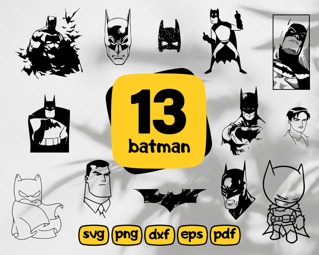 Batman svg,Batman SVG Vector, Clipart, Cut File, Batman Clip Art, Batman Cricut svg, Batman png, DXF, pdf, EPS FlexyCreatives
