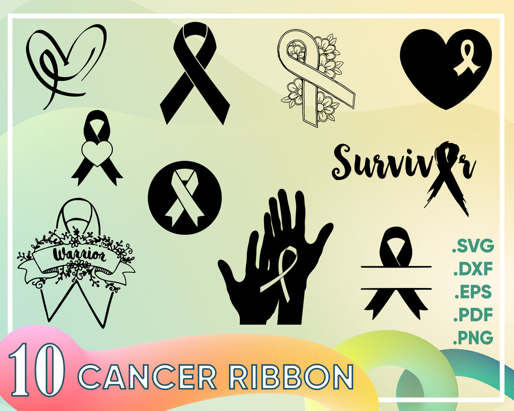 Cancer Ribbon svg, Cancer Ribbon SVG | Cancer Ribbon Clipart | Cancer Ribbon Silhouette Cut File | Cancer Ribbon Svg Jpg Eps Pdf Png | Vector Ribbon
