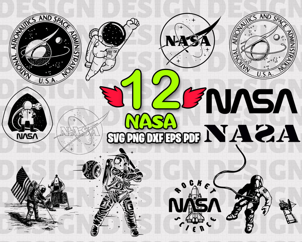 NASA SVG, nasa, space svg, nasa clipart, svg files for cricut, svg files, rocket svg, astronaut svg, nasa print, nasa logo svg, vinyl and print, instant download