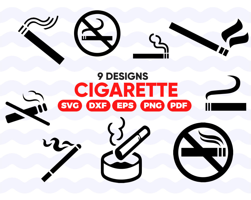 CIGARETTE SVG, cigarette, cigar, smoking svg, smoke svg, cigarette clipart, tobacco svg, cigar svg, svg vector, smoker svg, cigarette vector files - .EPS .DXF .SVG .PNG .PDF, vinyl design, files for crafters, instant download