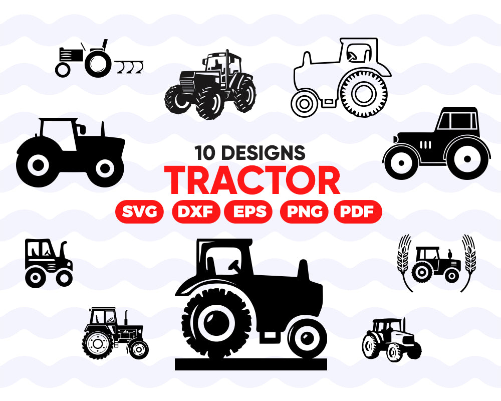Tractor Svg Bundle Tractor Svg Clipart Tractor Cut Files For Silhou Clipartic