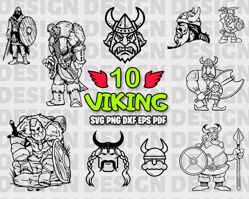 Viking SVG, clipart, silhouette, stencil, file cricut, cut file, cutting file, vector files - .EPS .DXF .SVG .PNG .PDF, vinyl design, files for crafters, instant download
