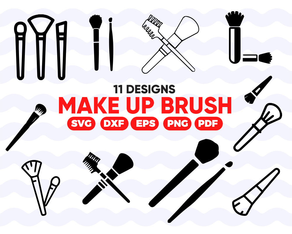 MAKE UP BRUSH SVG / makeup svg / fashion svg / cosmetic svg / beauty svg / clipart / silhouette / decal / stencil / vinyl / cut file / vinyl print / instant download