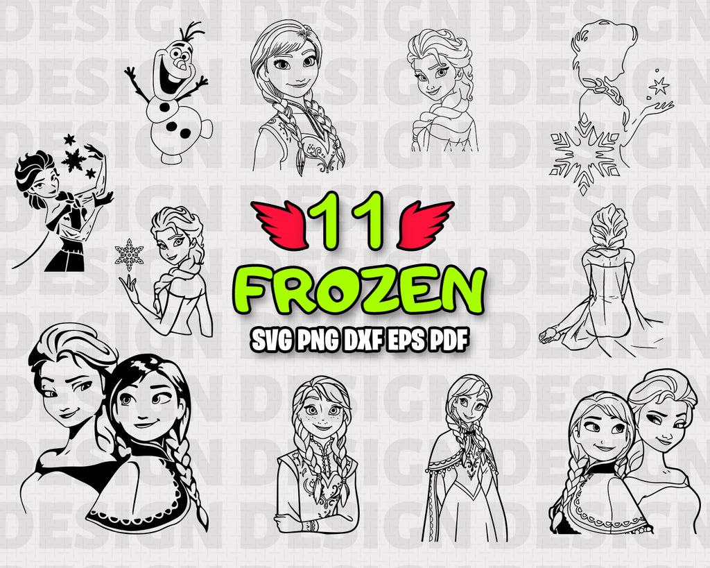 Sister SVG, cartoon characters svg, princess movie, clipart, silhouette, stencil, file cricut, cut file, cutting file, vector files - .EPS .DXF .SVG .PNG .PDF, vinyl design, files for crafters, instant download