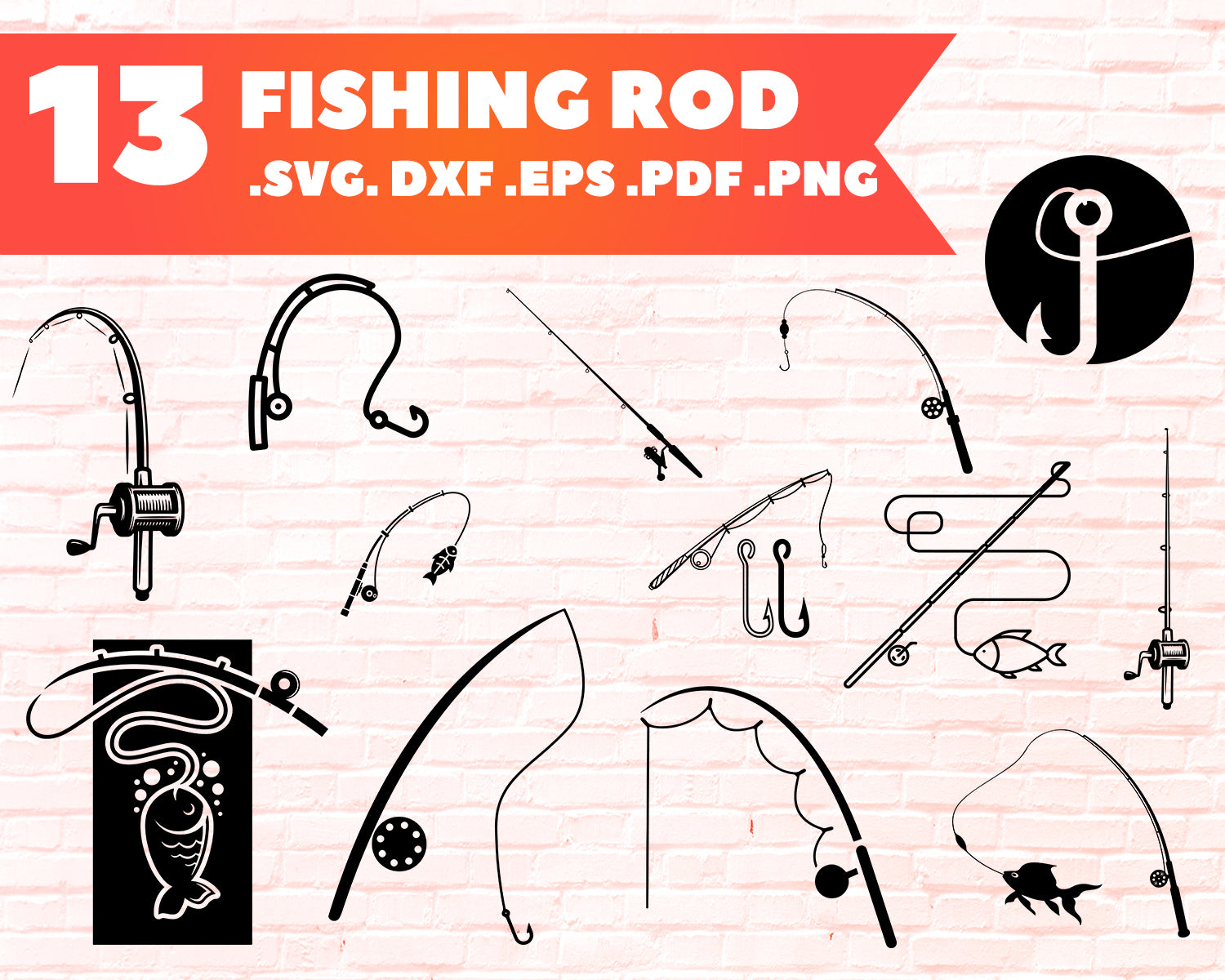 Fishing Rod Svg Fishing Svg Fishing Rod Clipart Fishing Rod Files F Clipartic