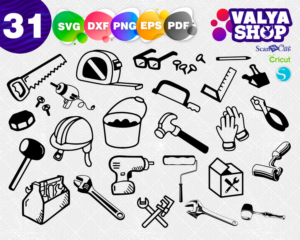Tool Set SVG, Tool SVG, Tools SVG, Tool Dxf, Tools Dxf, Tool Cut File, Split Monogram Svg, Monogram Svg, Svg File for Cricut, Cricut Design