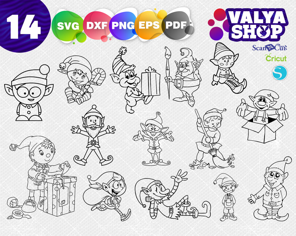 ELVES svg, Elf svg, Christmas svg, Cricut, Vector, Clipart DXF Png Pdf Eps, Xhristmas svg, Elf Clipart, Santa svg, Elf christmas svg, Hat Feet