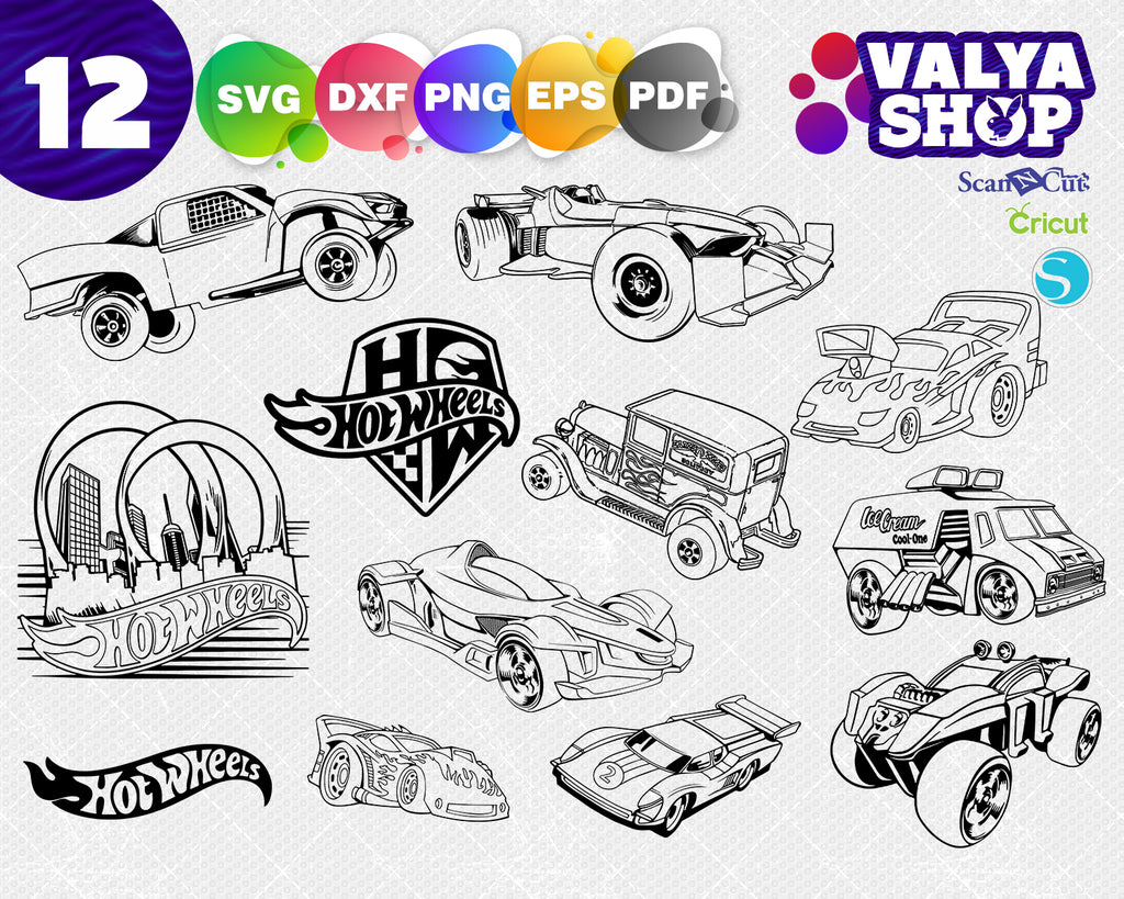 Cars SVG Silhouette vector and clip art files for Cricut