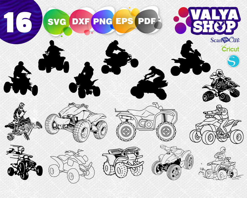ATV svg 4 wheeler svg silhouette cameo cricut Dxf 4 wheeler svg T shirt iron on transfer Country life Maverick svg ATV shirt ATV clip art