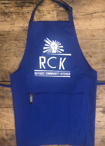 Refugee Community Kitchen Professional Chef Apron - Red, Blue, Black, Purple, Dark Navy Blue or White