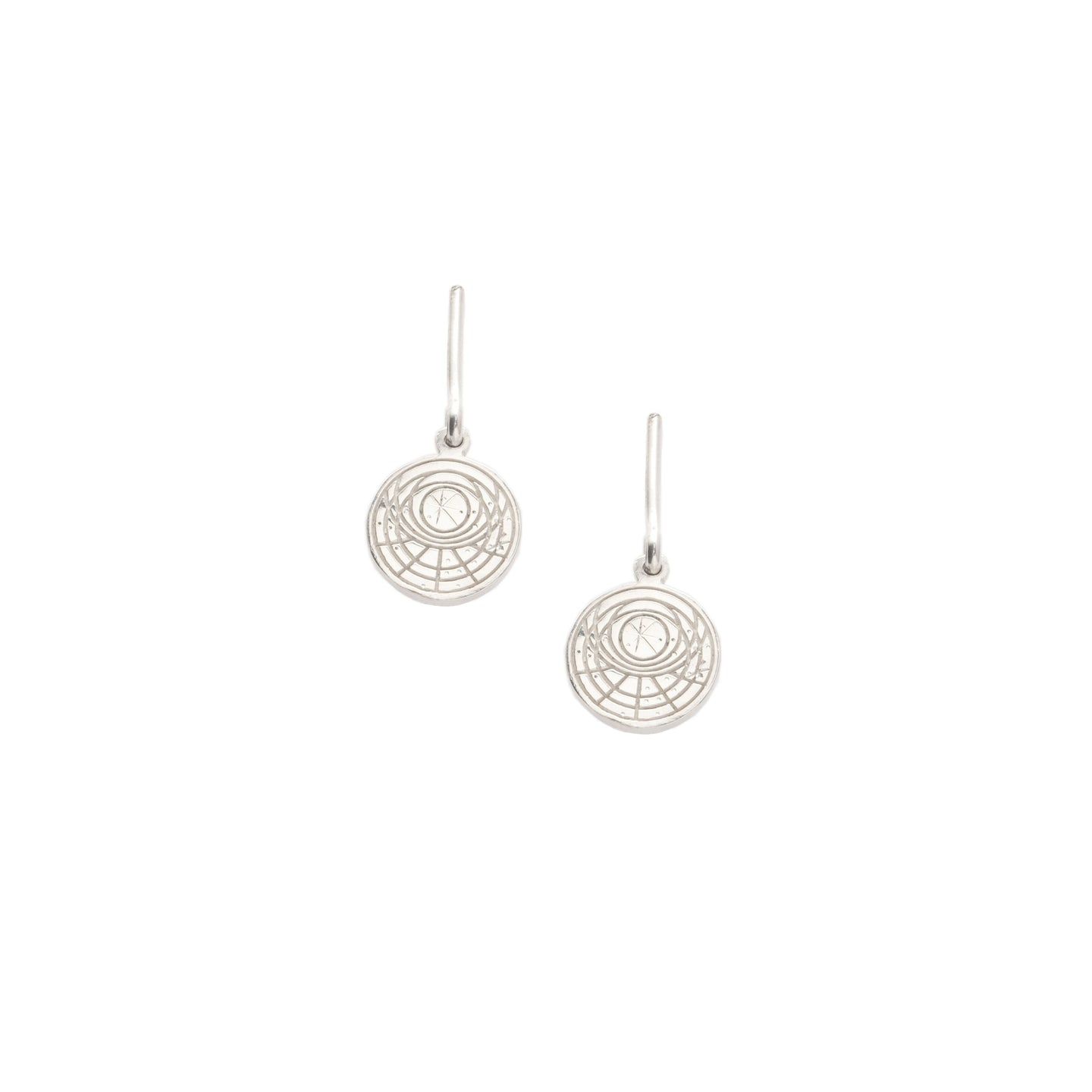 Astrolabe and Bar Earrings