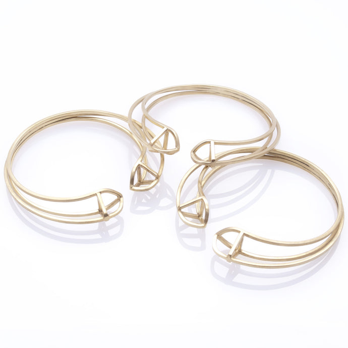 Triple Triangle Bangle