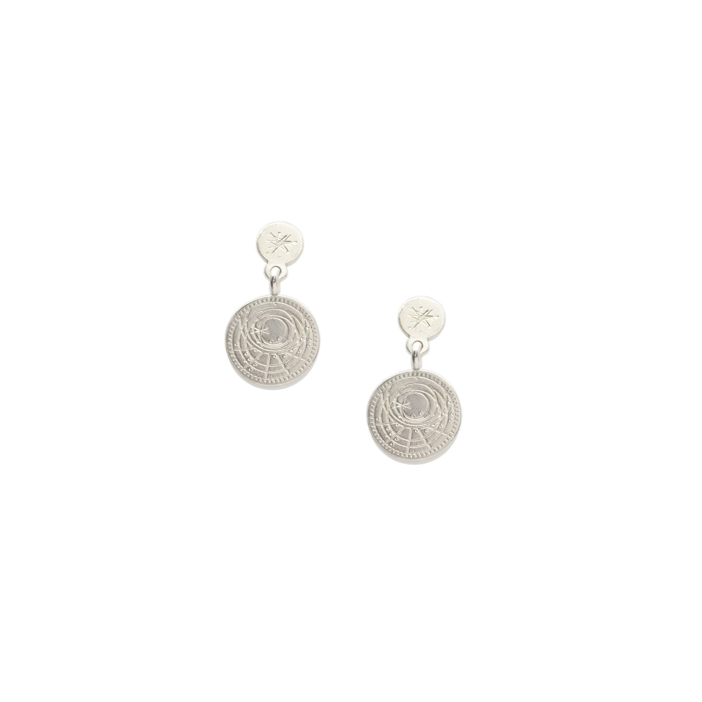 Astrolabe and Star Earrings