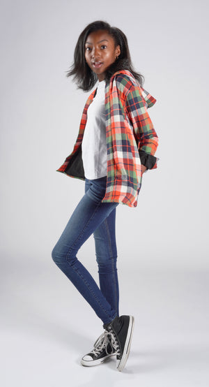 """elle"" flannel jacket"