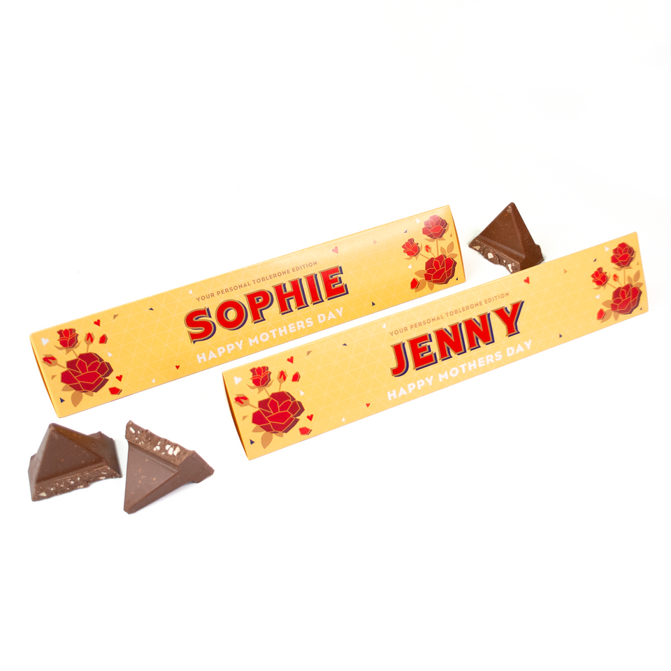 Personalised Toblerone Rose Edition