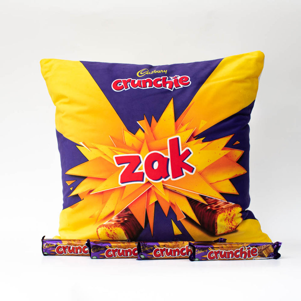 Personalised Crunchie Cushion