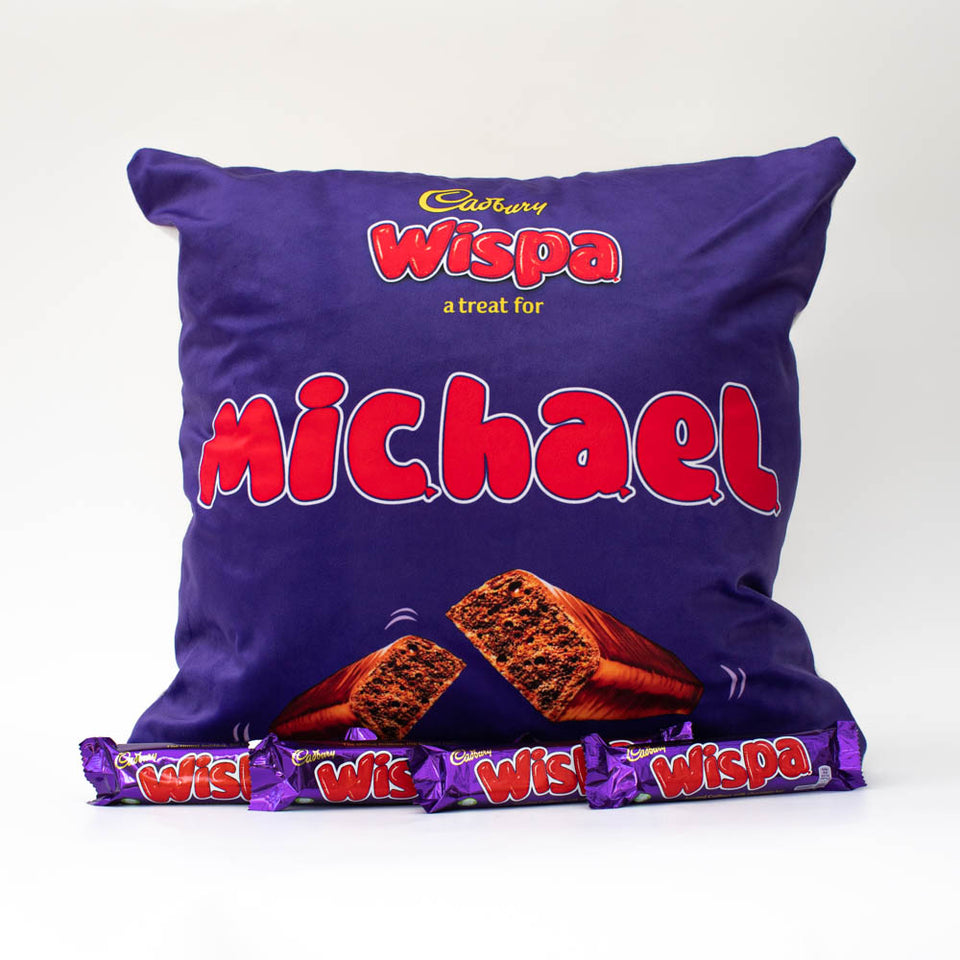 Personalised Wispa Cushion