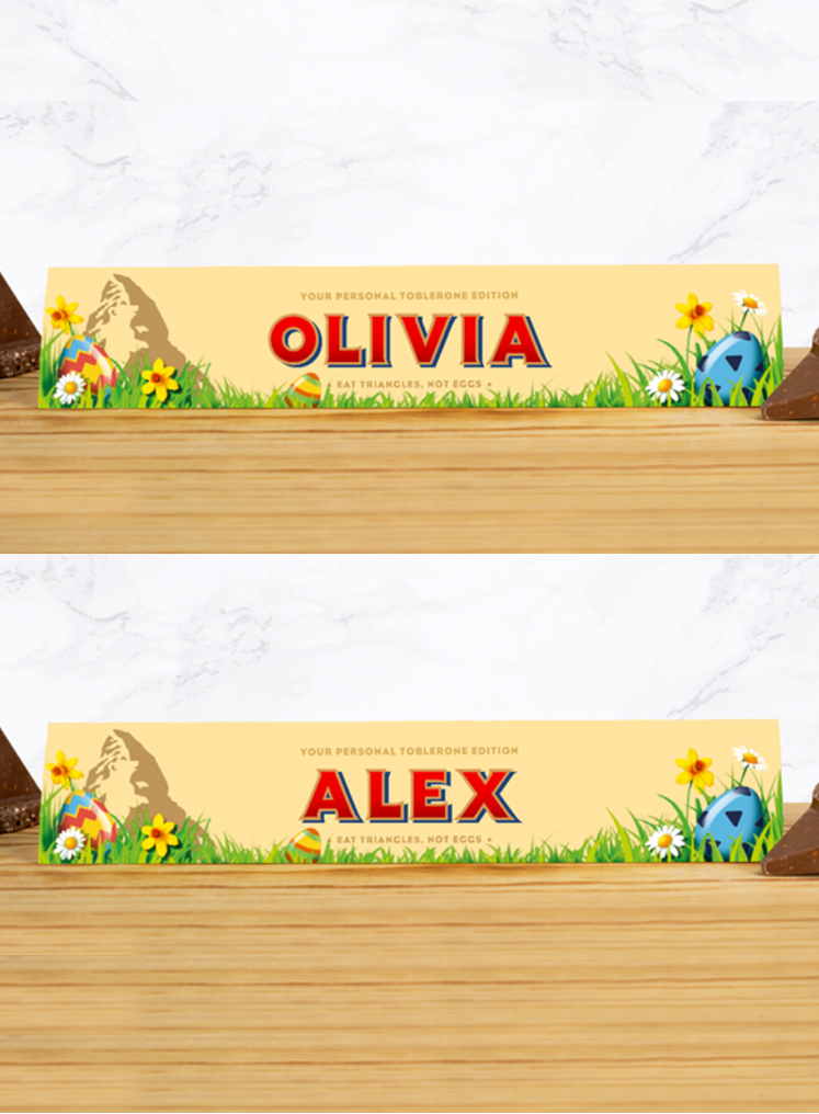 Personalised Toblerone Easter Edition - 360g
