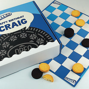 Personalised Oreo Checkers Box