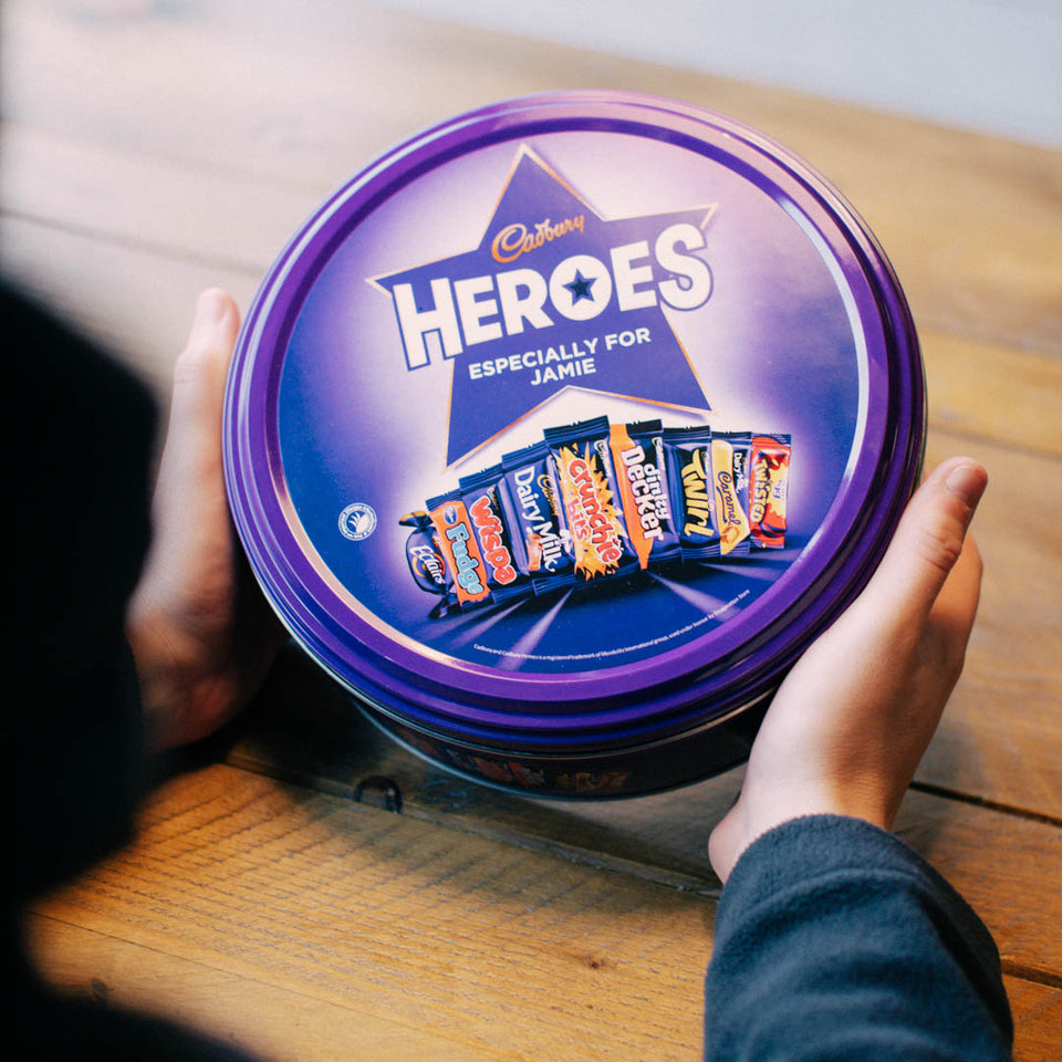 Personalised Heroes Tin